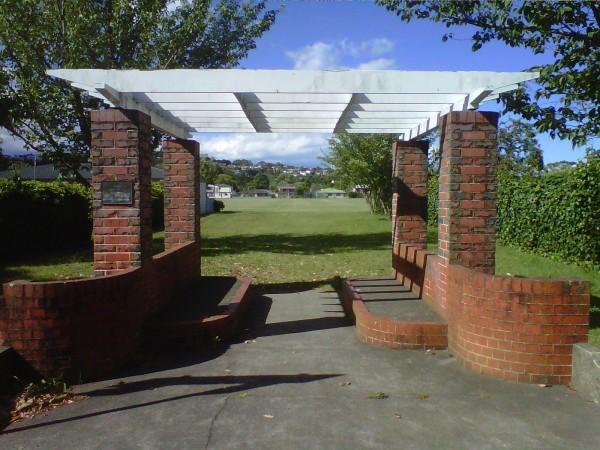 Entrance to Marewa Park, Tom Parker Avenue, Napier